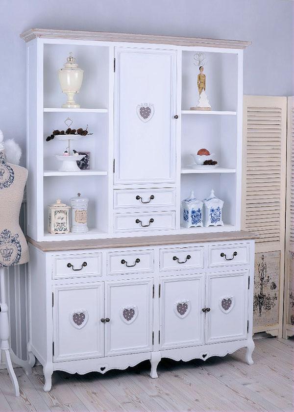 kredens z motywem serduszka shabby chic. Black Bedroom Furniture Sets. Home Design Ideas