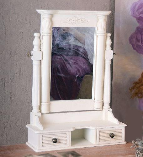 Wybitny Romantyczne Stojące Lustro Toaletka Shabby Chic NP21