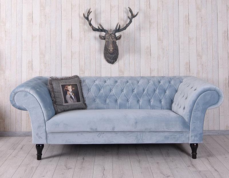 sofa chesterfield - biuro w domu