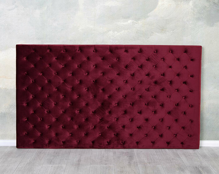 zagłówek do łóżka styl chesterfield kolor bordo 180 x 104 cm